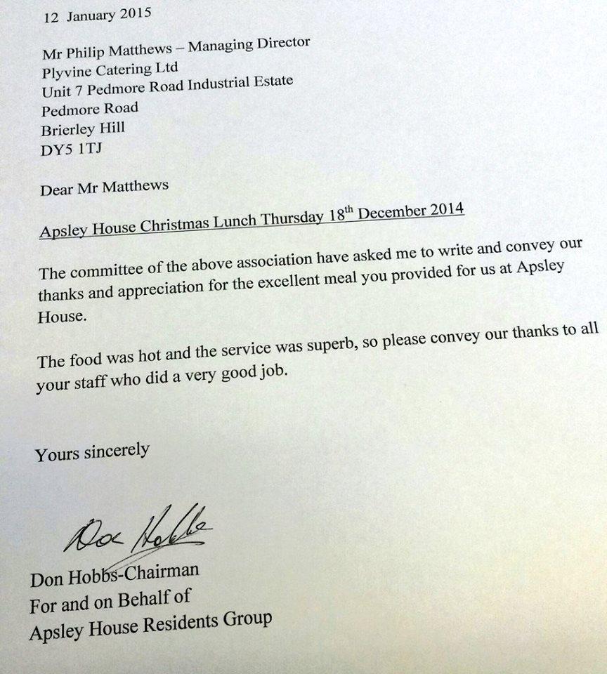 Appreciation Letter After Presentation Business Thank You